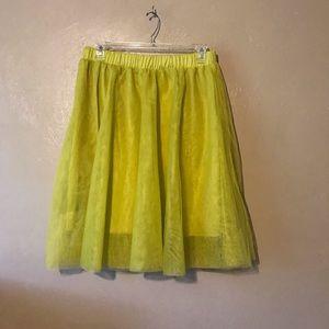 Ashley Stewart mustard color tutu skirt size 18/20